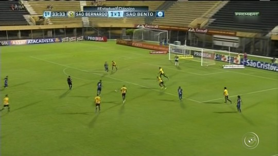 São Bernardo segura a pressão e vence o São Bento com gol no fim
