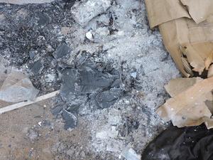 Supostos documentos queimados pela gestão anterior (Foto: Prefeitura de Lizarada/Divulgação)