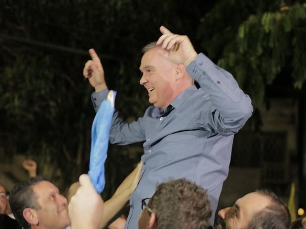 Candidato Sérgio da Coopoços, do PSDB, é eleito novo prefeito de Poços de Caldas (MG). (Foto: Karina Sales)