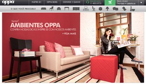 Layout do site da empresa Oppa (Foto: Reprodução)