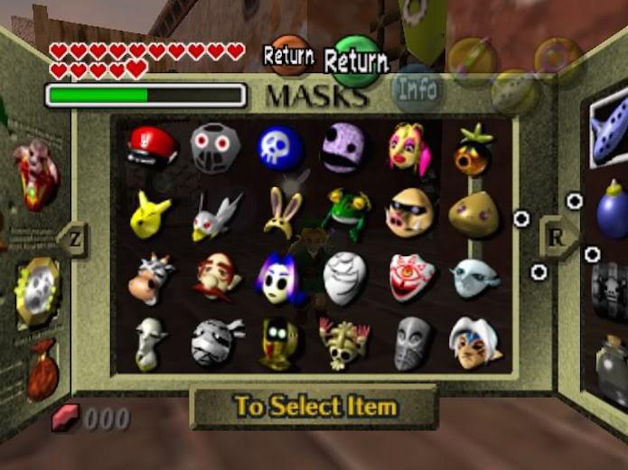 Zelda: Majoras Mask 3D: saiba como pegar todas as máscaras do jogo (Foto: Reprodução)
