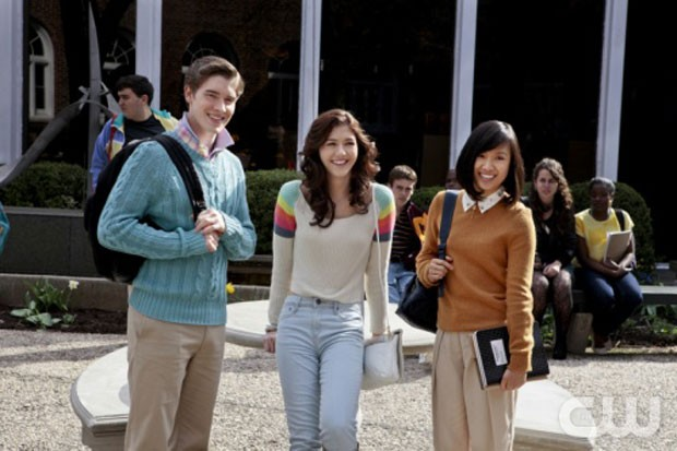 Walt (Brendan Dooling), Maggie (Katie Findlay) e Mouse (Ellen Wong) (Foto: Divulgação)
