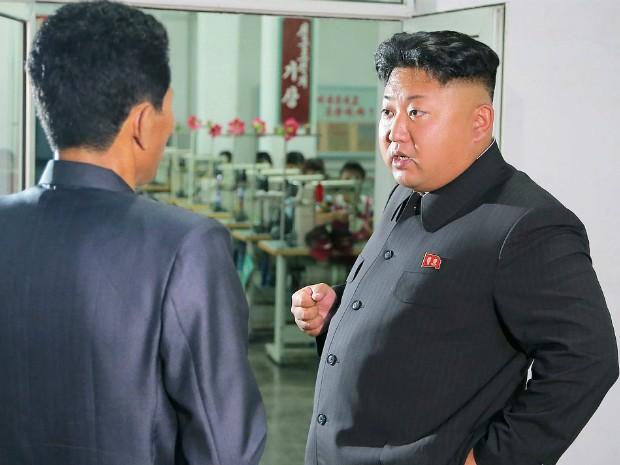 Foto sem data definida de Kim Jong-Un, líder norte-coreano (Foto: KCNA/AFP)