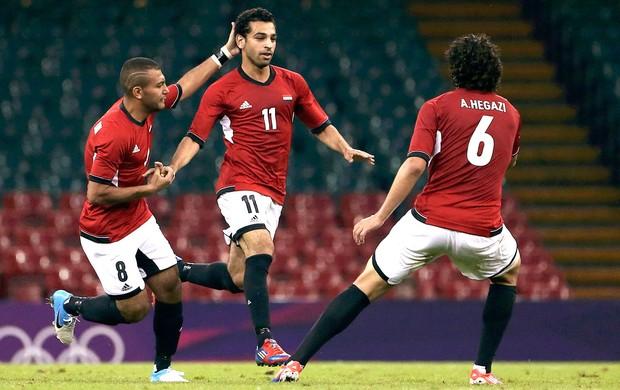 Mohamed Salah comemora gol do Egito contra o Brasil (Foto: Agência Reuters)