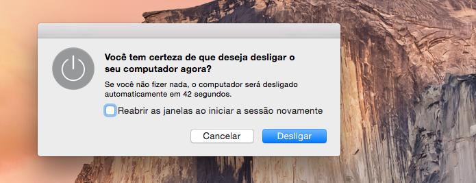Desligando o Mac (Foto: Reprodução/Edivaldo Brito)