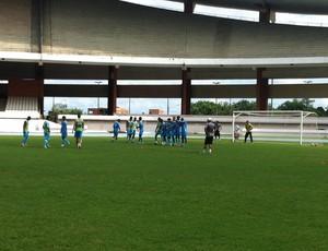 Paysandu treinando no Mangueirão (Foto: Divulgação/Ascom Paysandu)