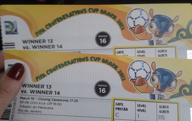 ingresso brasil x espanha  (Foto: Globoesporte.com)