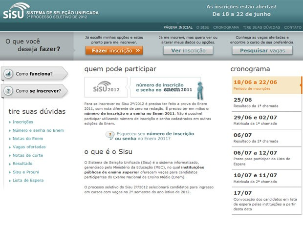 Sisu abre inscri&#231;&#245;es (Foto: Reprodu&#231;&#227;o)