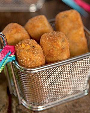 Croquetinho de milho com carne moída (Foto: Cacá Bratke/Casa e Comida)
