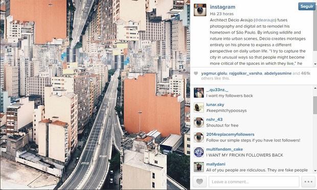 Instagram deletou milhões de contas, inclusive a de seus fãs, e provocou uma onda de irritação entre usuários da rede, que perderam seguidores. (Foto: Reprodução/Instagram)
