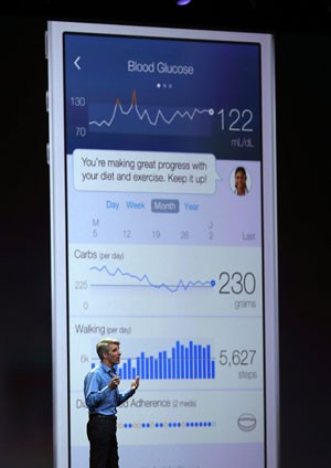 HealthKit compilará dados de aplicativos de saúde no iPhone e no iPad (Foto: AFP)