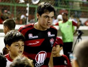 Cáceres; Vitória (Foto: Felipe Oliveira/Divulgação/EC Vitória)