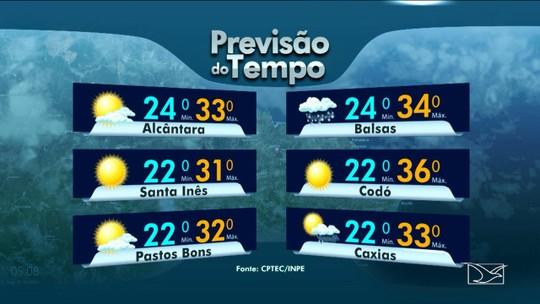 Veja a previsão do tempo para esta quarta-feira no MA