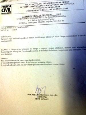 Laudo da polícia não detectou sinais de embriaguez em Marcelinho Paraíba (Foto: Marco Antônio Leite / EPTV)