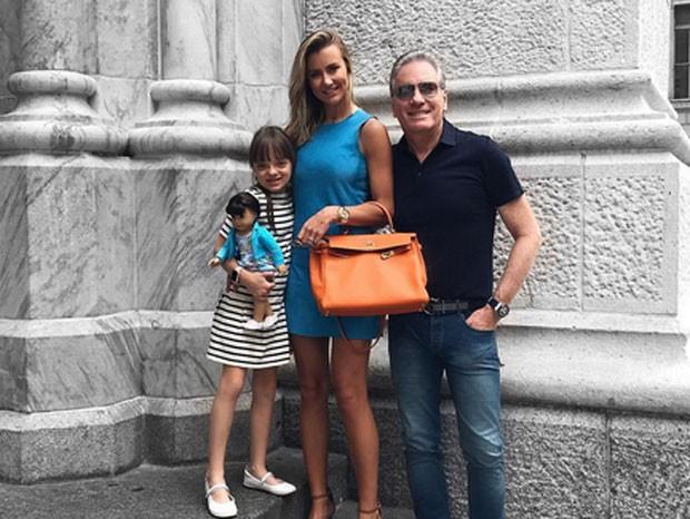 Rafa Justus, Ana Paula Seibert e Roberto Justus (Foto: Reprodução)