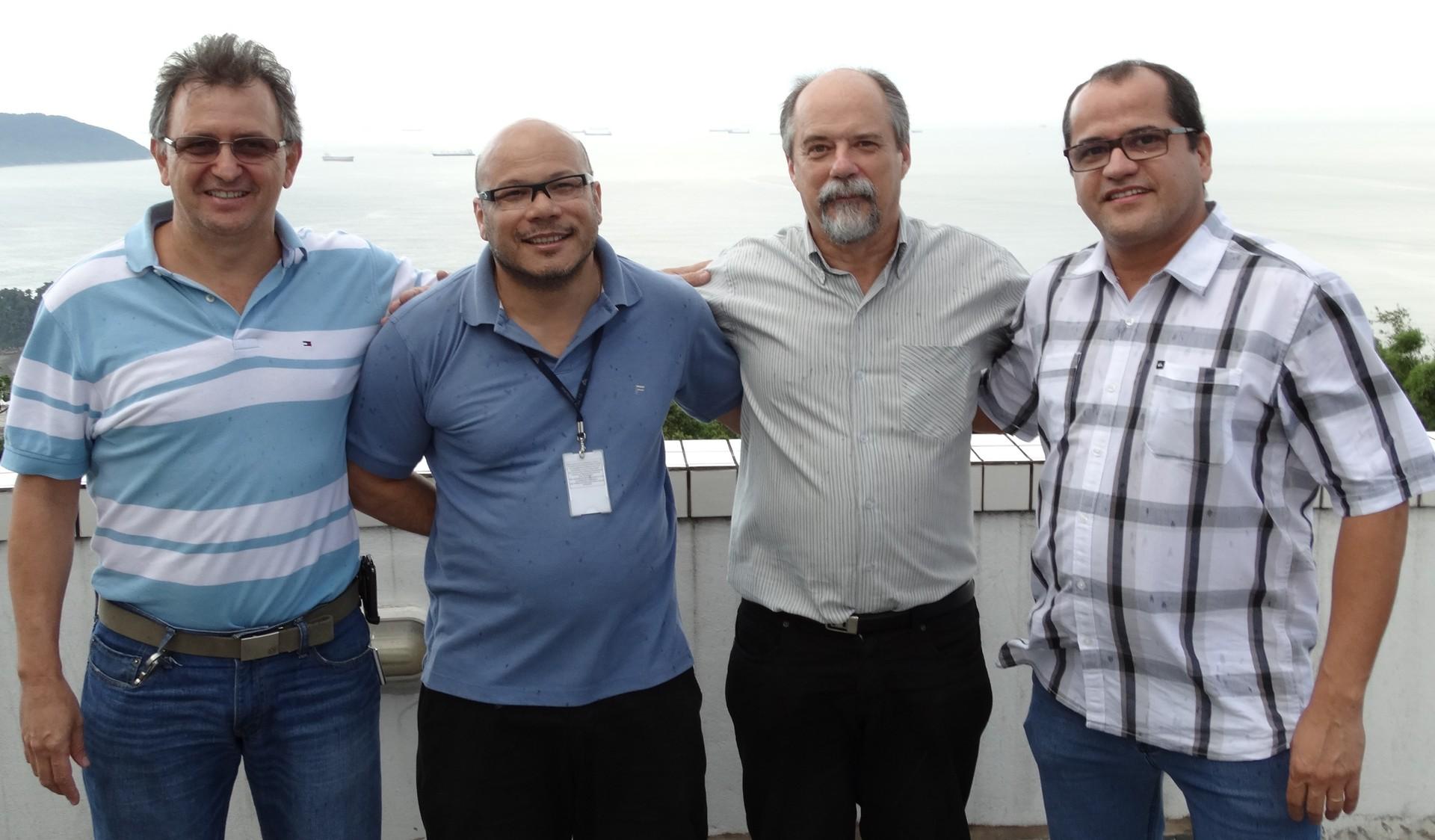 Diretores e Gerente da TV Tribuna (Foto: Eder Pin)