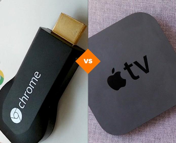Chromecast versus Apple TV (Foto: Arte/TechTudo)