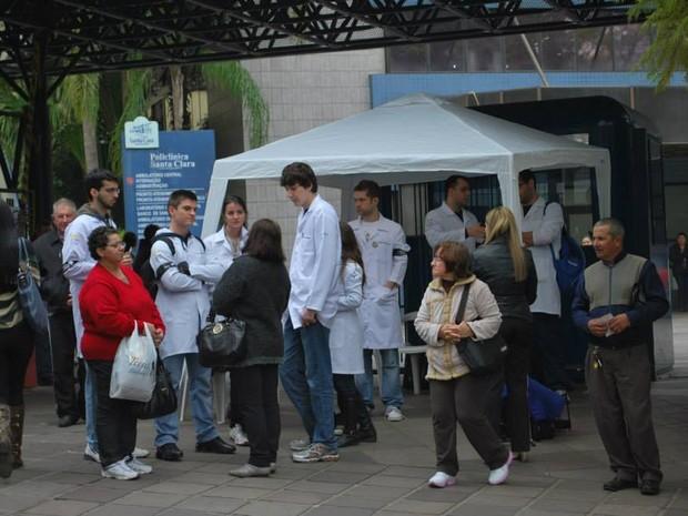 Paralisação médicos Porto Alegre RS (Foto: Simers/Divulgação)