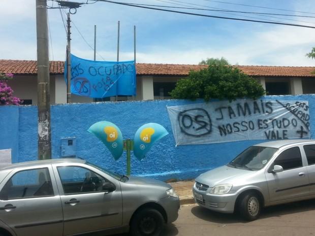 Colégio Jad Salomão foi ocupado em Anápolis, Goiás (Foto: Divulgação)