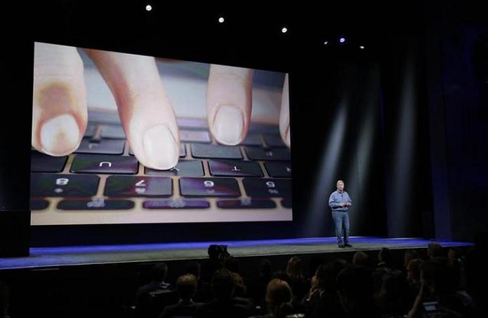 Novo teclado ganhou destaque na apresentação (Foto: Reprodução/CNET)