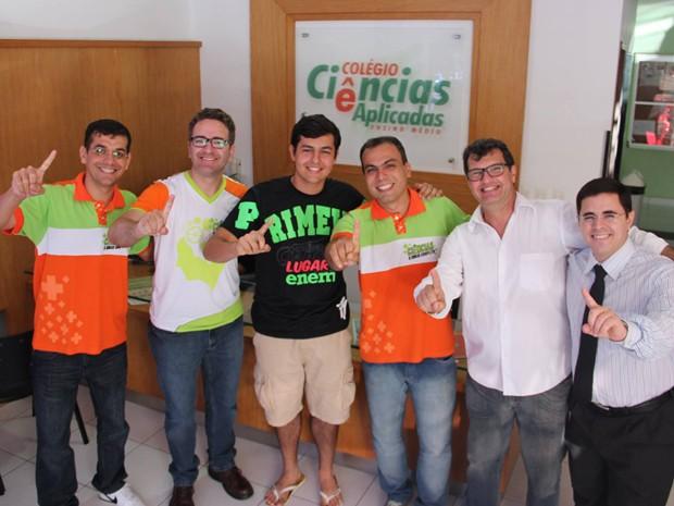 João Cláudio foi aprovado em primeiro lugar no curso de medicina da UFRN em Natal (Foto: Maiara Cruz/G1)