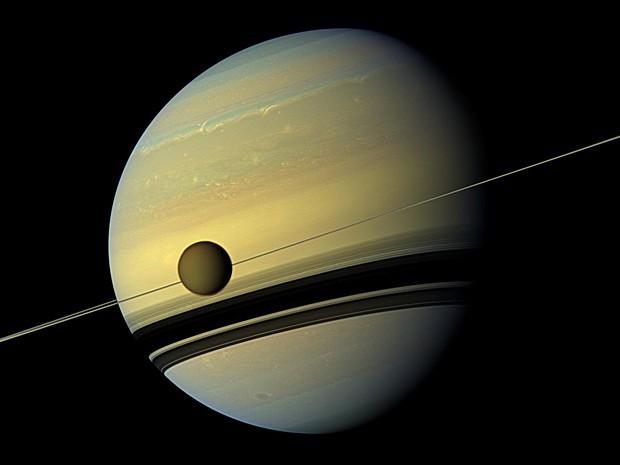 Saturno Titã (Foto: Nasa/JPL-Caltech/SSI)