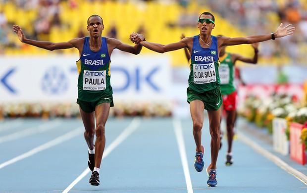 Paulo Roberto Paula  Solonei da Silva maratona moscou mundial atletismo (Foto: Getty Images)