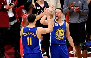 """Thompson, após vencer Curry: """"É um privilégio treinar com ele todos os dias"""""""