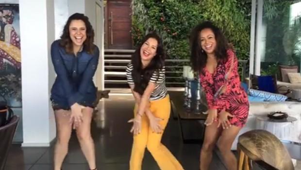 Francis Helena, Fernanda Souza e Aretha Oliveira voltam aos velhos tempos e dançam hit de 'Chiquititas' (Foto: Reprodução/Instagram)