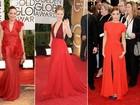 Vestidos e batons: vermelho é aposta absoluta das famosas no Globo de Ouro
