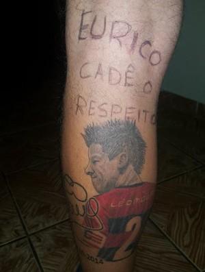 Torcedor Flamengo, tatuagem Léo Moura, Eurico
