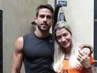 Gabriela Pugliesi leva o novo namorado a evento em São Paulo