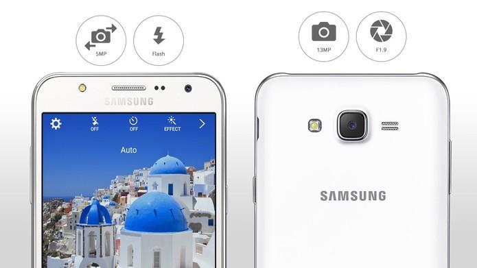 J5 e J7 têm câmera para selfies de 5 megapixels (Foto: Reprodução/Site oficial da Samsung)