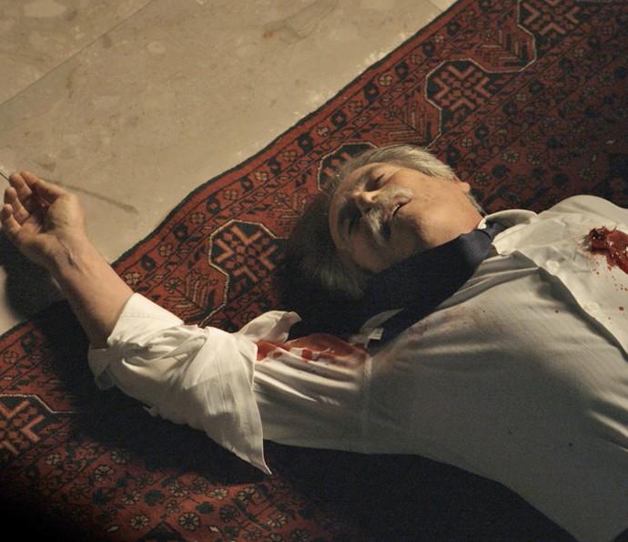 Quem será que matou o Pai da facção? (Foto: TV Globo)