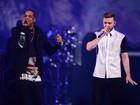 Taylor Swift e Beyoncé curtem show de Justin Timberlake