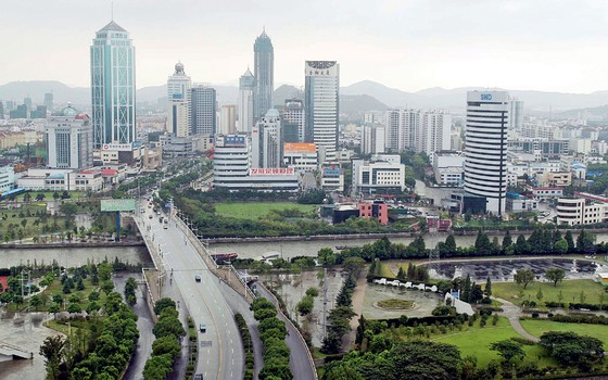 Prédios em Nova  Suzhou,na China (Foto: Zhang Wei/AFP)