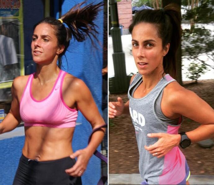 Carol adora correr e usa o exercício como terapia (Foto: Arquivo Pessoal)