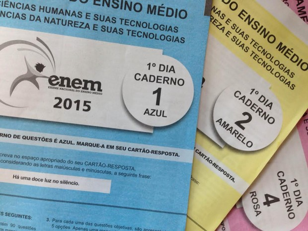Enem 2015 caderno de provas, prova, provas do Enem (Foto: G1)