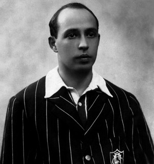 Oswaldo Gomes, autor do primeiro gol da Seleção (Foto: Acervo Flu-Memória)