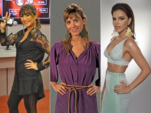 Famosas já adotam os maxibrincos e incrementam o visual moderno (Foto: Mais Você / TV Globo)