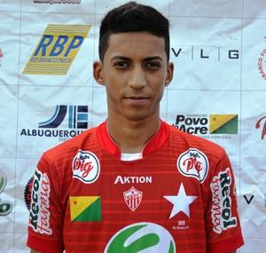 Thiago Teodoro, 16 anos, goleiro Rio Branco-AC (Foto: Duaine Rodrigues)
