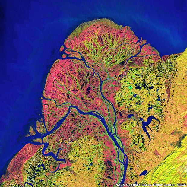 Terra como arte (Foto: NASA's Goddard Space Flight Center/USGS)