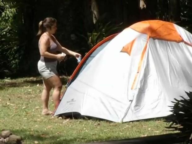 Camping em Visconde de Mauá, no Sul do Rio (Foto: Reprodução/TV Rio Sul)