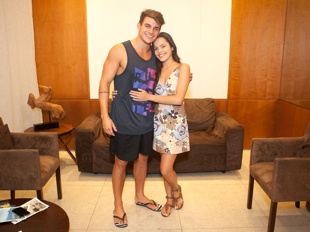 Ex-BBBs Mayla e Antônio  (Foto: Anderson Barros/ EGO)