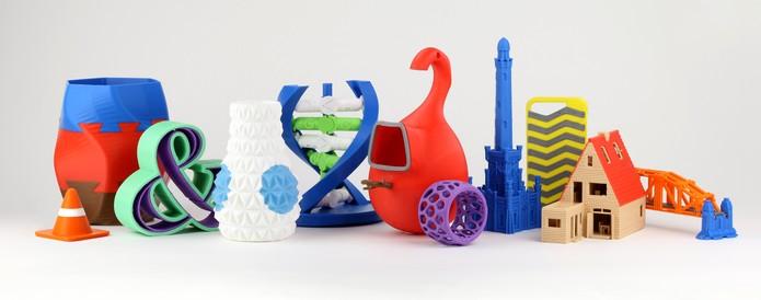 Objetos fabricados com a impressora 3D Cube Pro (Foto: Divulgação)