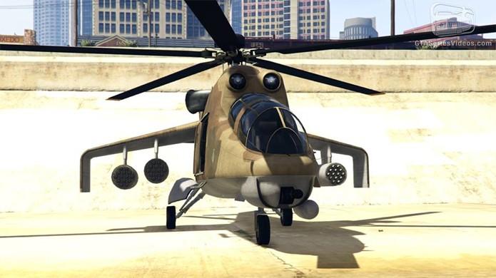 O helicóptero Savage traz grande poder de fogo (Foto: Reprodução/GTA-Series)