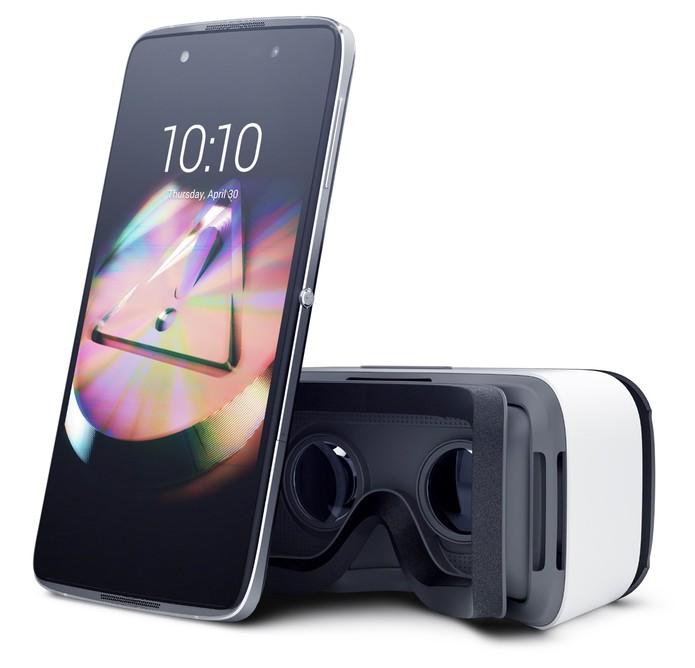 Idol 4 e headset de realidade virtual (VR) (Foto: Divulgação/Alcatel)