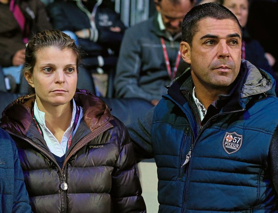 O cavaleiro Doda  e a ex-mulher bilionária Athina Onassis (Foto:  Jean Catuffe/WireImage)