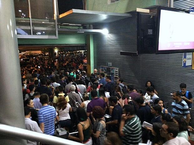 Alunos de faculdade deixaram instituição após sentirem abalo   (Foto: Matheus Castro)