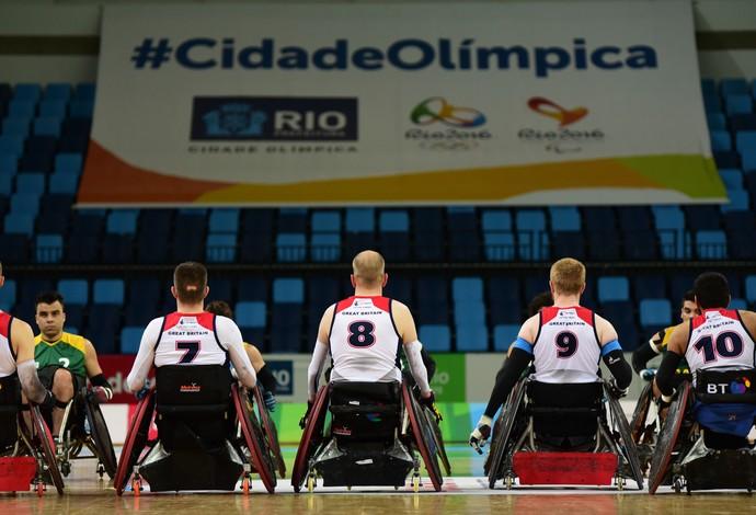 Evento-teste de rúgbi em cadeira de rodas (Foto: THIAGO RIBEIRO/FRAMEPHOTO/ESTADÃO CONTEÚDO)